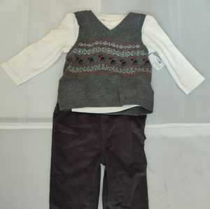 Cuddle Bear Collection Gray Vest Outfit